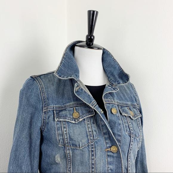 Old Navy | Distressed Denim Jean Jacket Coat